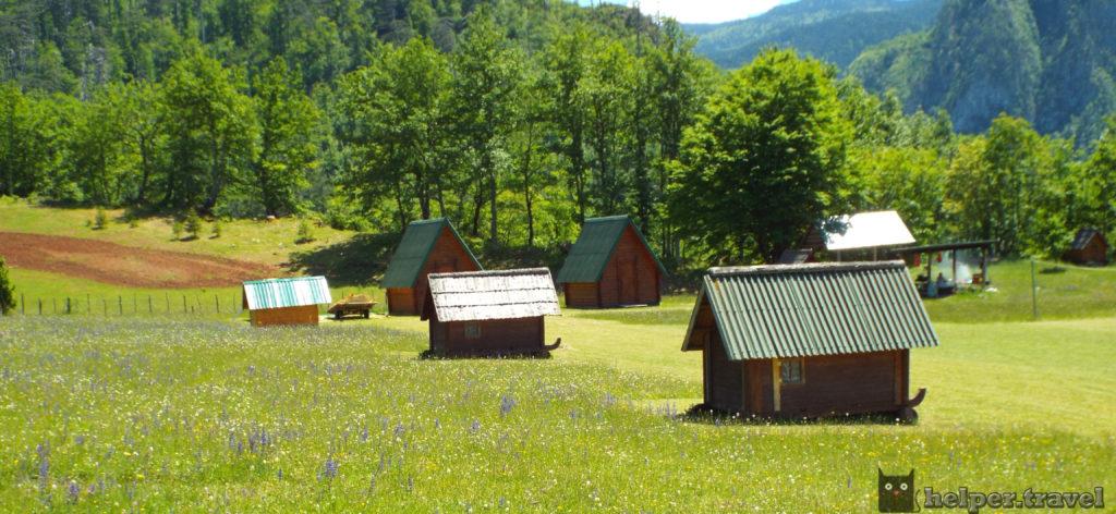 Эко село в Черногории, домики для отдыха, Дурмитор