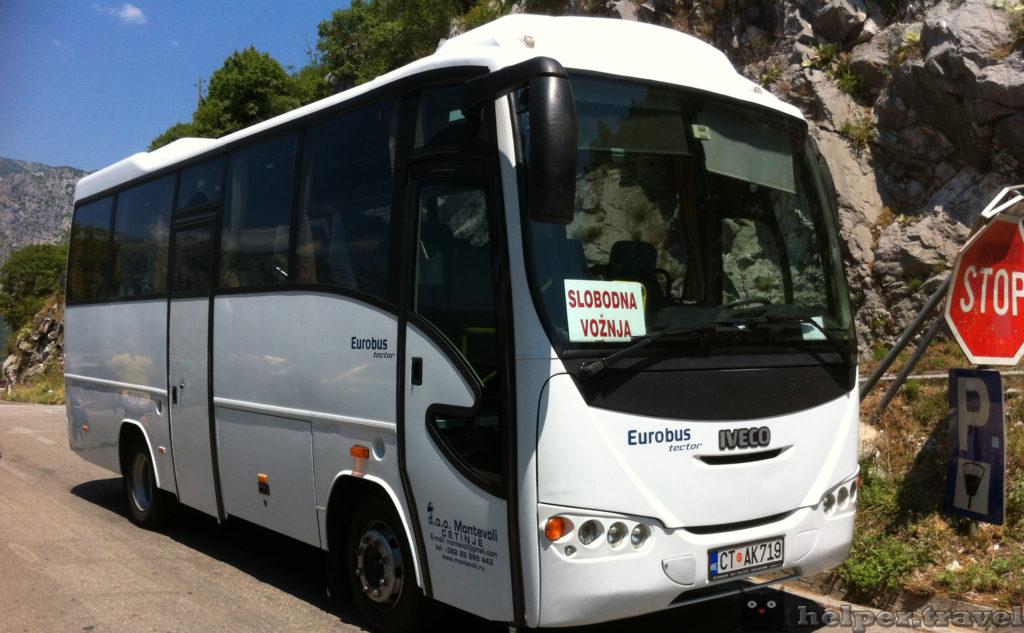 Аренда автобусов в Черногории с водителем